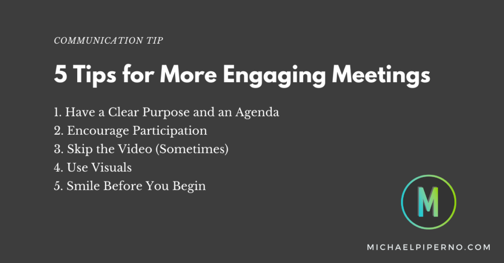 5 Tips for More Engaging Meetings