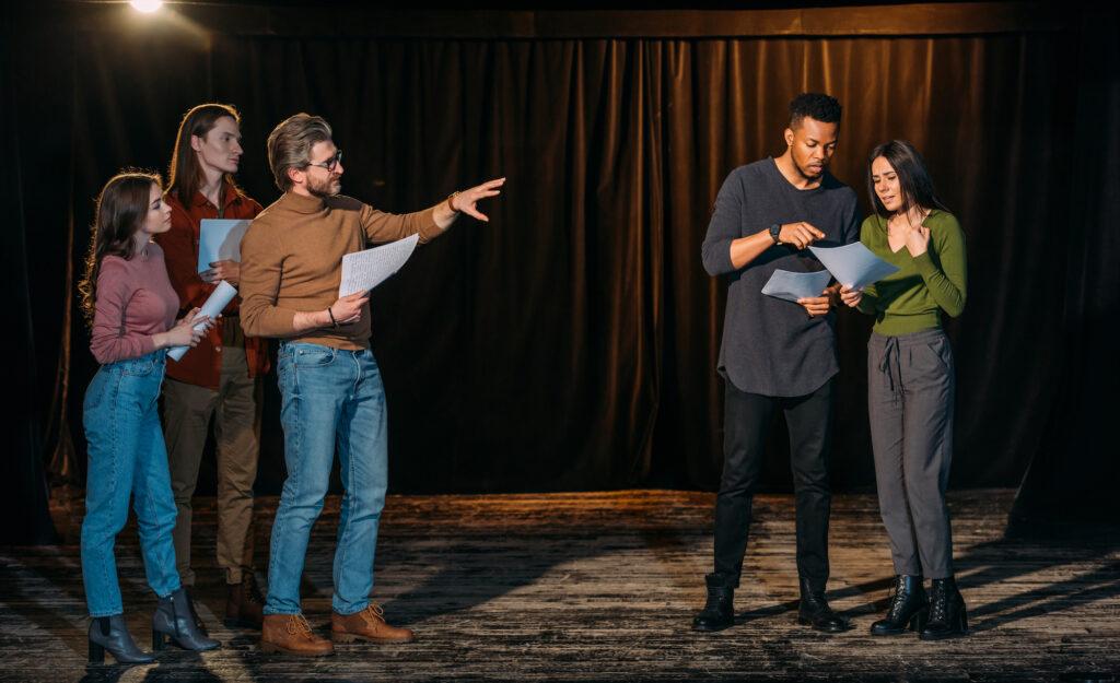 Theatre Cast Rehearsing